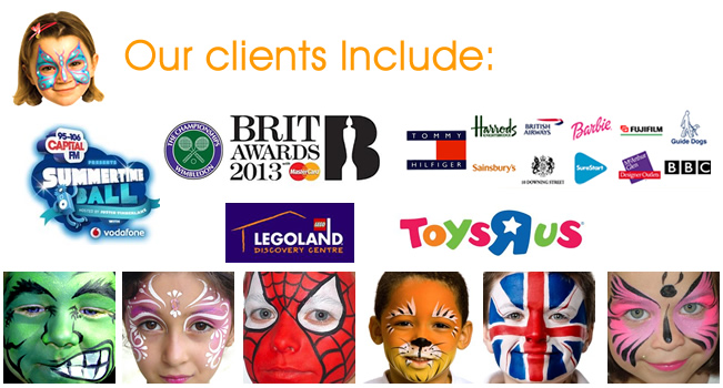 Face Painters for events and parties