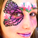 Butterfly Art Face Painting