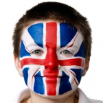 Union Jack Face Painting